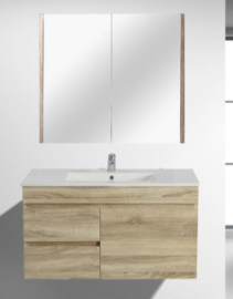 Berge Timber Wood Grain Vanity Set White Oak�